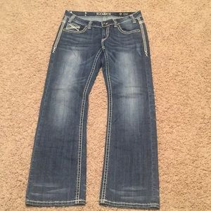 Rock & Roll Cowgirl Riding Jeans sz 29 x 34